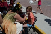 Face painting artists made lots of little girls dreams come true; Photo, Mona Mattei